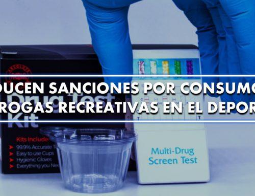 Reducen sanciones por consumo de drogas recreativas en el deporte