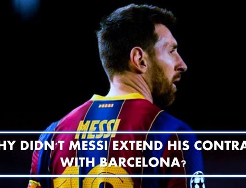 Why didn't Messi extend his contract with Barcelona?