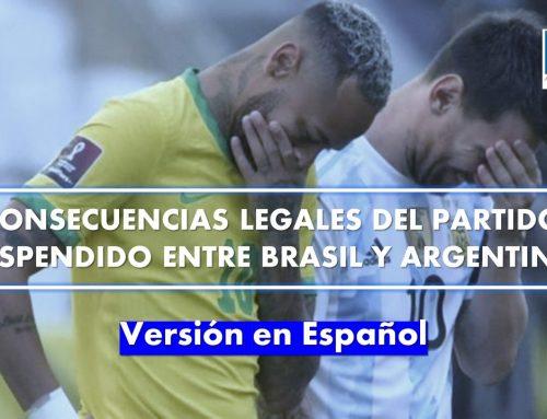 Consecuencias legales del partido suspendido entre Brasil y Argentina