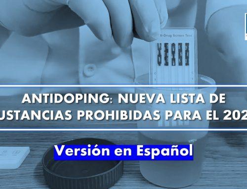 Antidoping: Nueva lista de sustancias prohibidas para el 2022